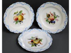 Three early 20thC. Meissen porcelain dessert plate