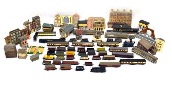 Quantity of Lima, Hornby etc 00 gauge rolling stock and wagons, together with various trackside