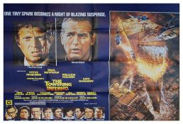 The Towering Inferno British Quad film poster, 76cm x 100cm Condition: Folded with drawing pin holes