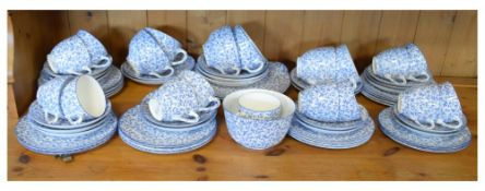 Royal Doulton blue transfer printed part tea service Condition: Please contact department for more