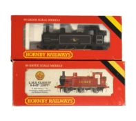 Two Hornby railways 00 gauge railway train set locomotives comprising R.058 Jinty loco and R.052