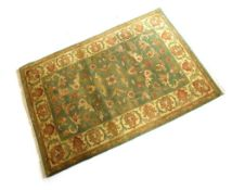 Indian wool rug, 124cm x 180cm Condition: Deep pile and good colour but would benefit from a clean -