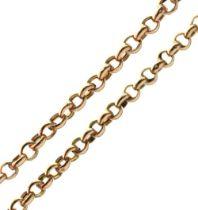 9ct gold belcher-link chain