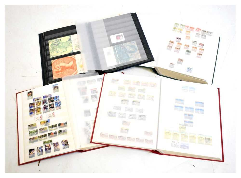 Stamps - Australia - Four stock books of Australian stamps late 19th century onwards