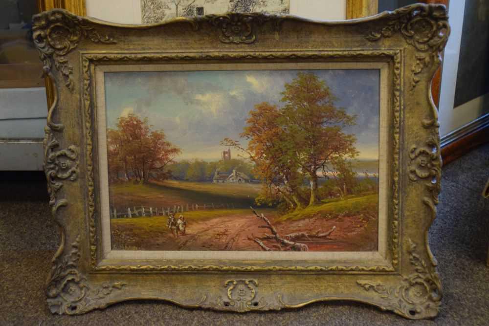 George Harris - Pair of oils on board - Image 7 of 10