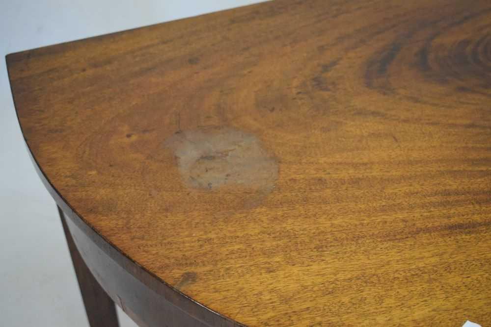 George III mahogany demi-lune side table - Image 6 of 6