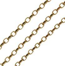 9ct gold belcher-link chain, 31.4g