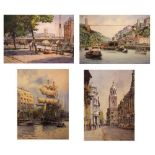 Set of four Frank Shipsides limited edition prints
