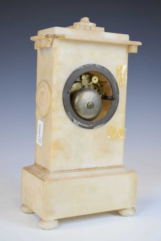 19th Century French alabaster mantel clock, Hodgkins & Co, Paris, No. 7138 - Image 8 of 12