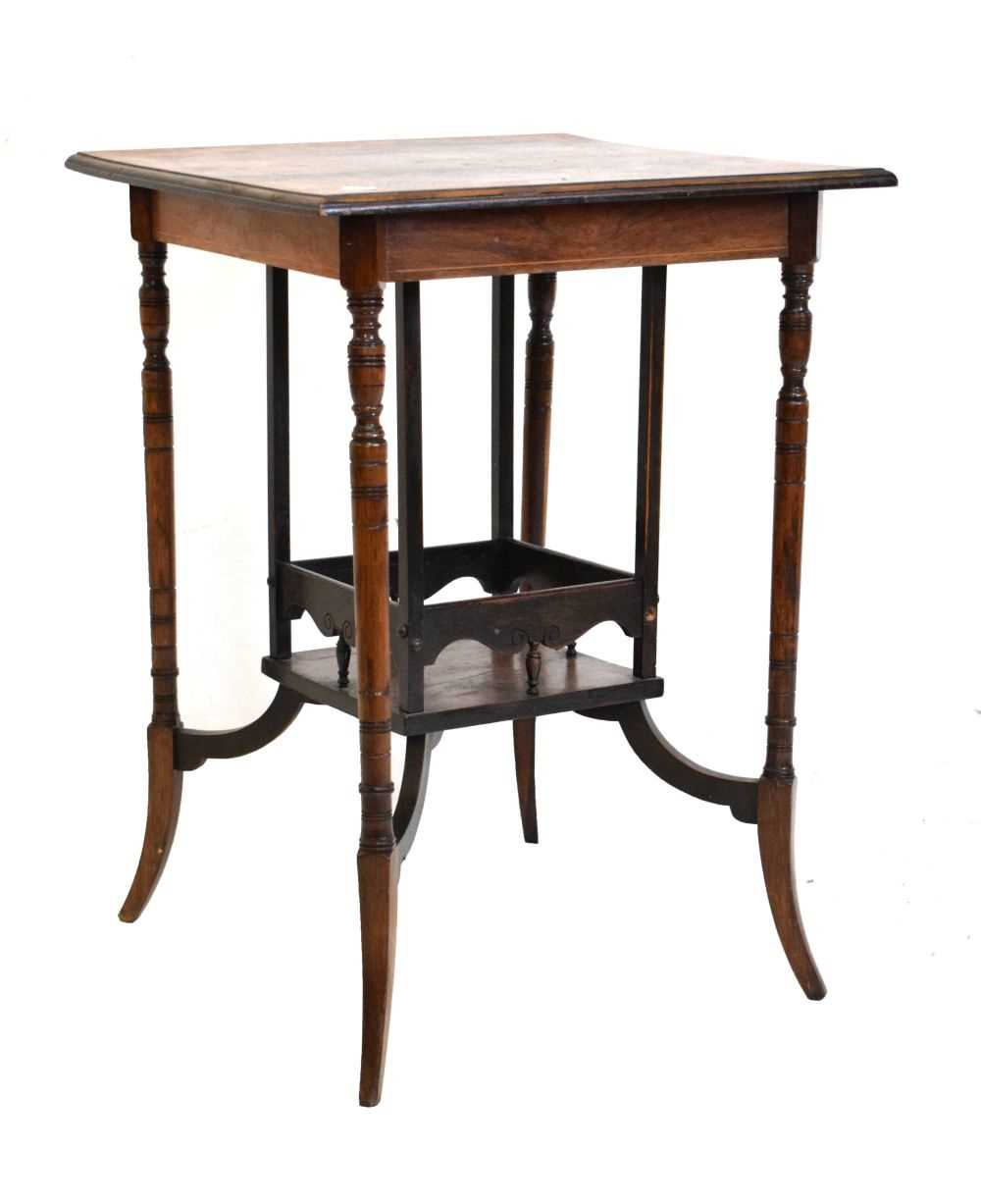 Inlaid rosewood occasional table circa 1900