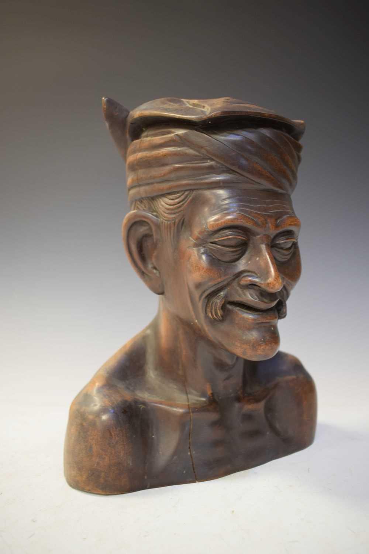Carved hardwood bust - Image 5 of 5