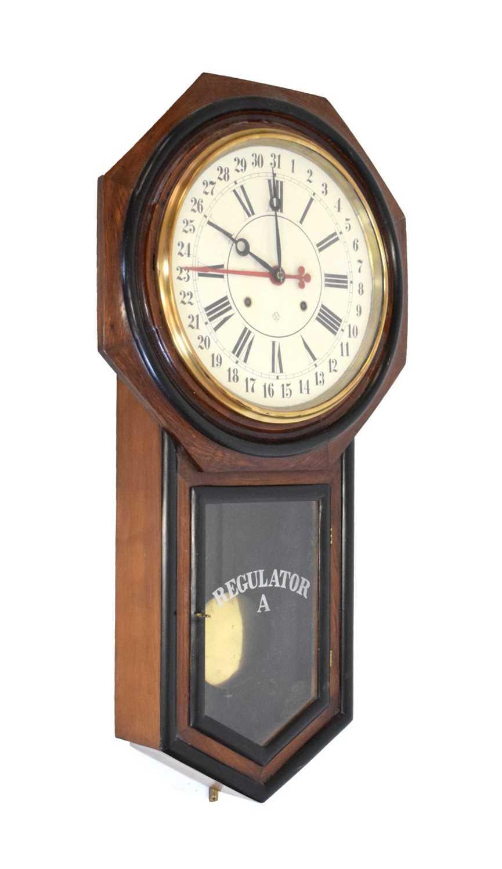 Ansonia - American regulator wall clock circa 1900