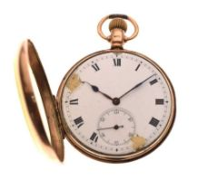 9ct gold open face pocket watch