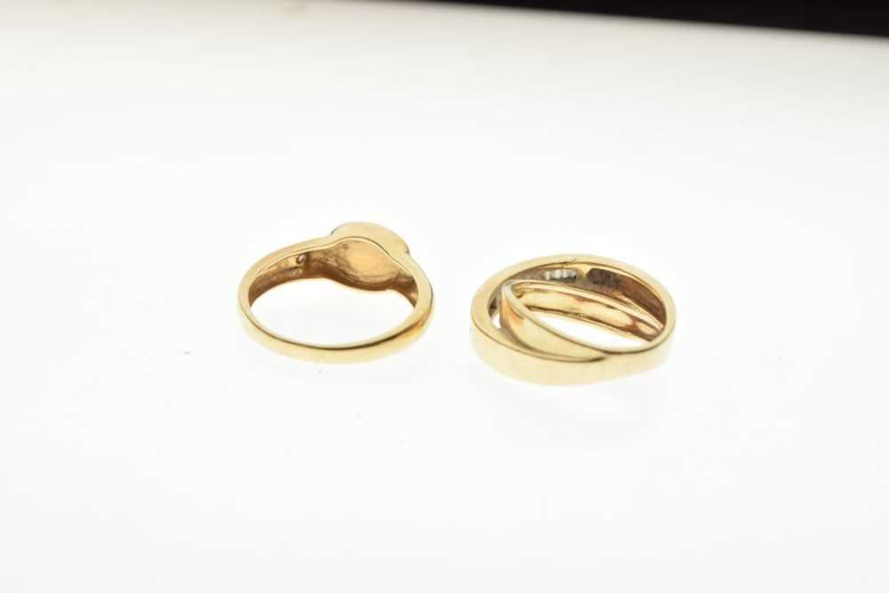 Dress ring set baguette cut diamonds, - Image 4 of 5