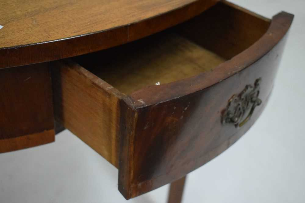 George III mahogany demi-lune side table - Image 5 of 6