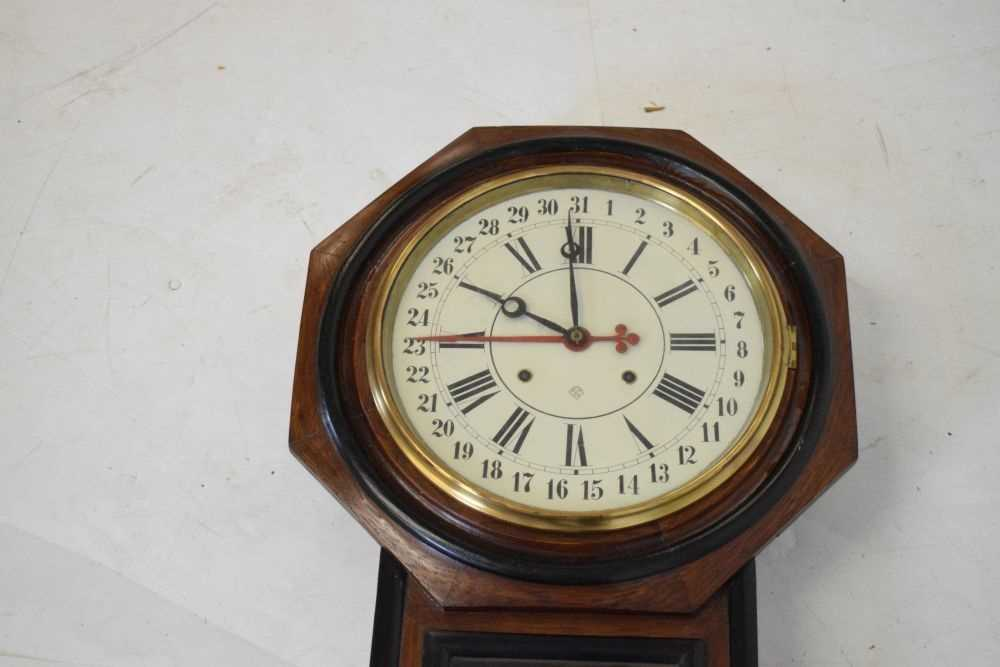 Ansonia - American regulator wall clock circa 1900 - Image 2 of 5