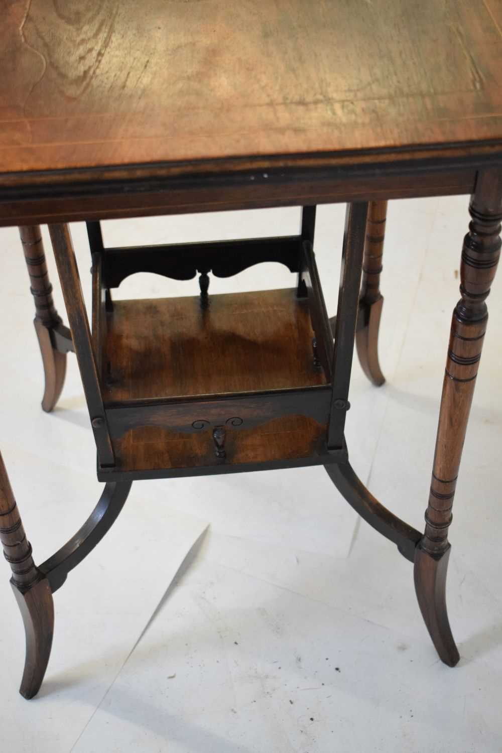 Inlaid rosewood occasional table circa 1900 - Image 3 of 5