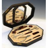 Cased manicure set