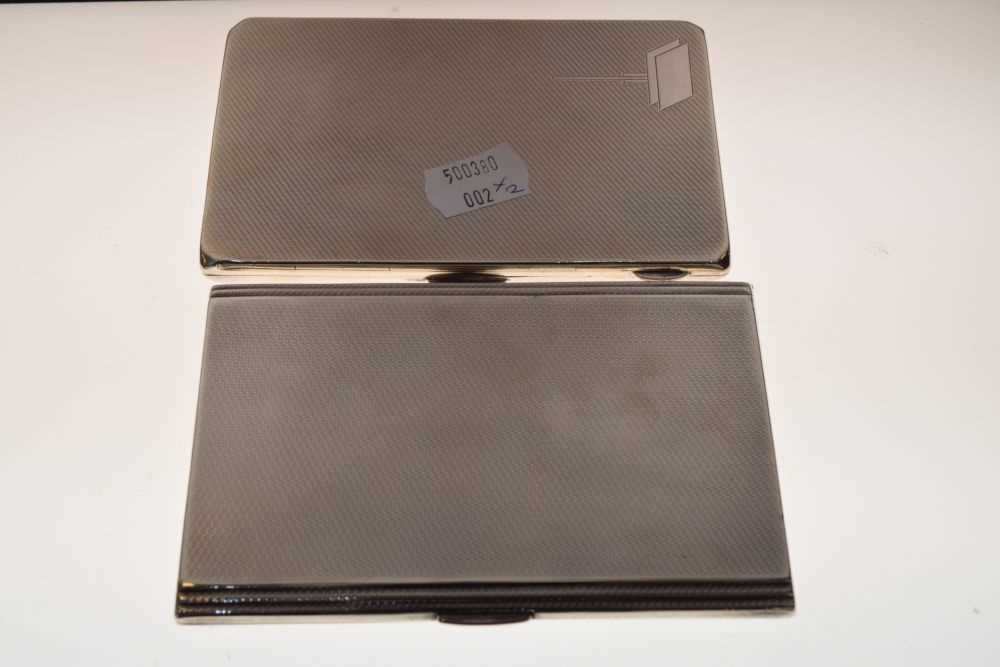 Two George V silver cigarette cases - Image 2 of 4