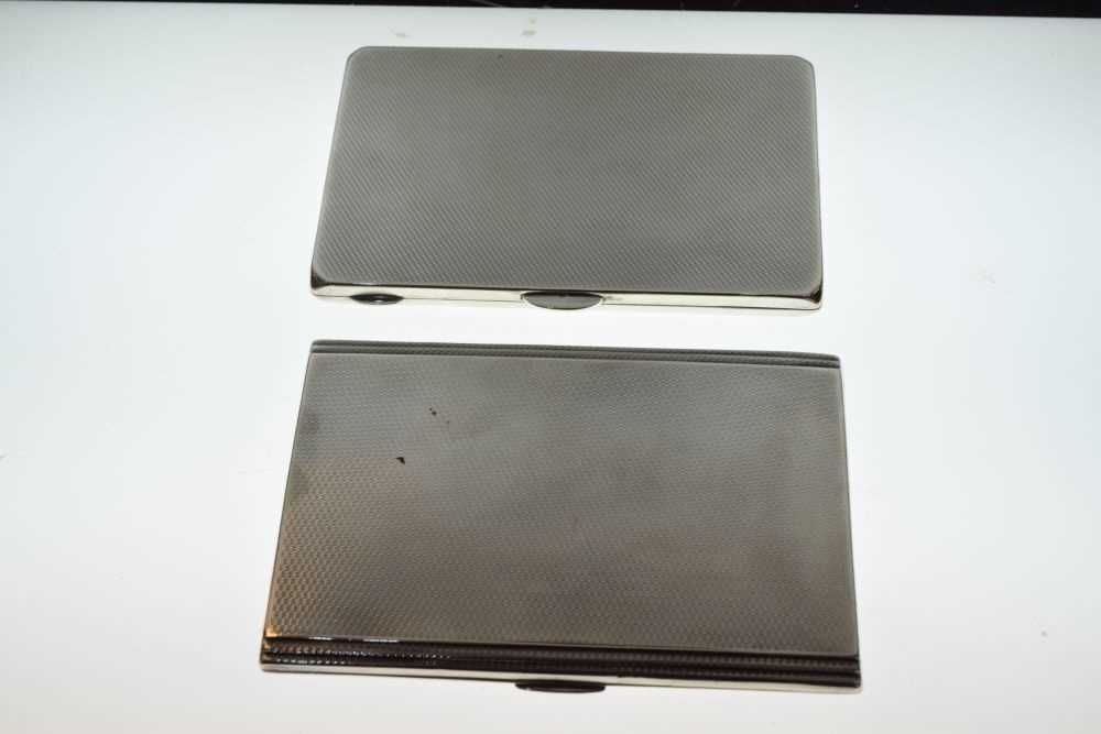 Two George V silver cigarette cases - Image 3 of 4