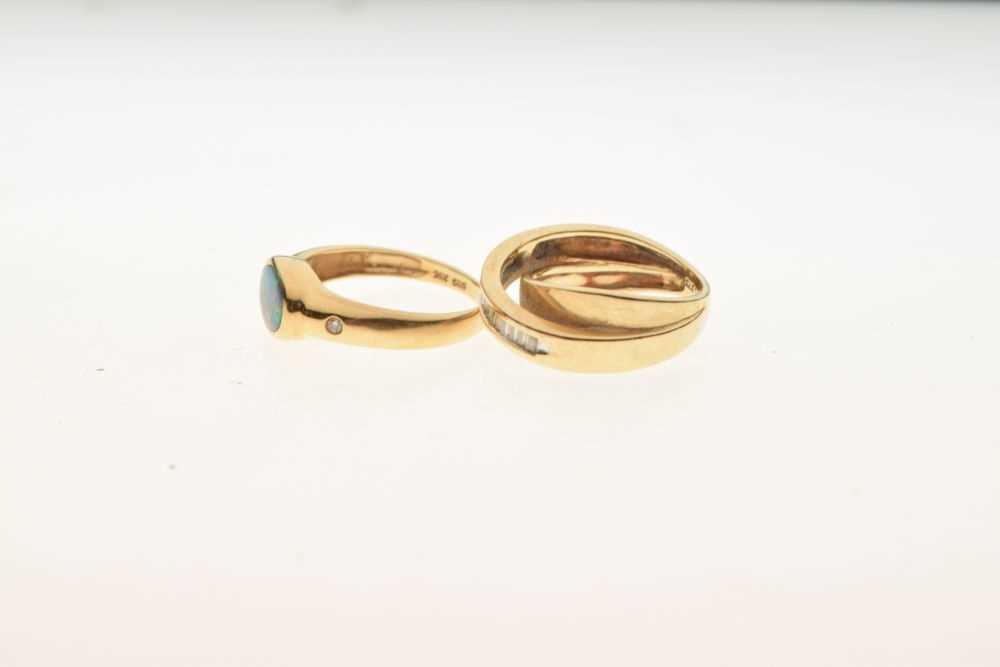 Dress ring set baguette cut diamonds, - Image 3 of 5