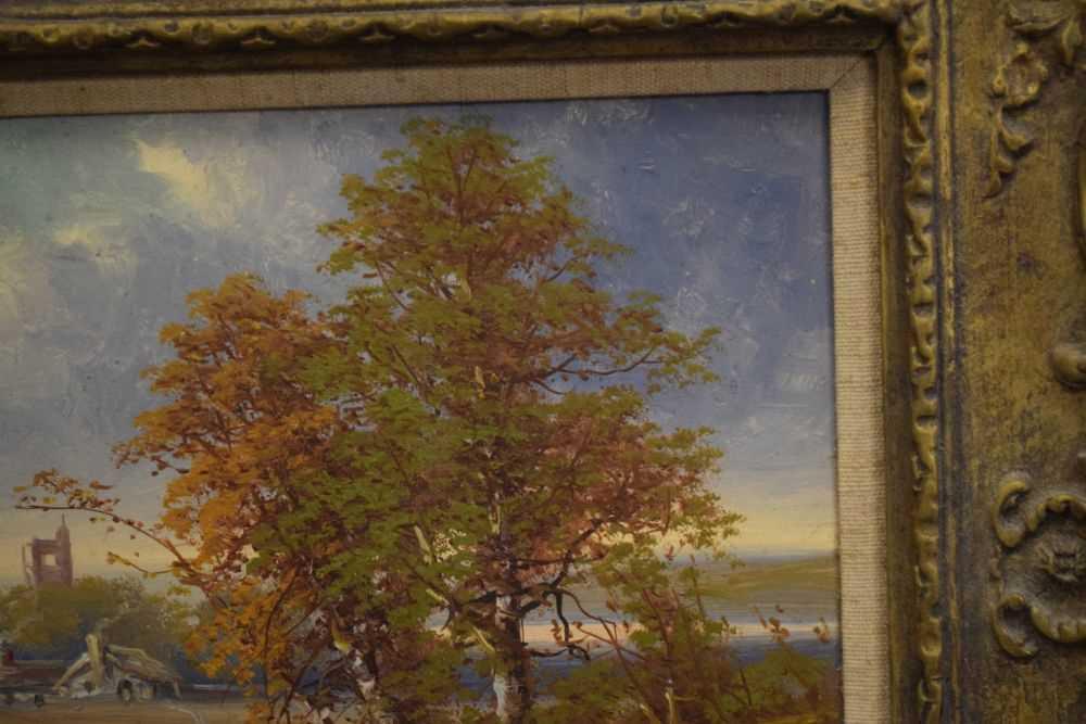 George Harris - Pair of oils on board - Image 9 of 10