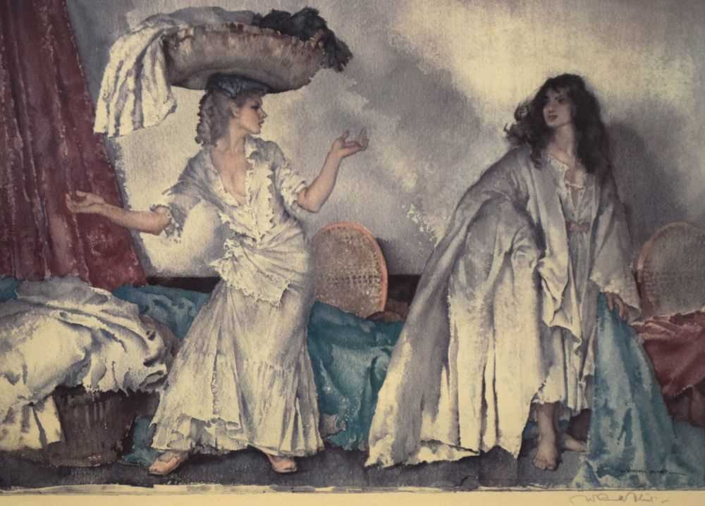 After Sir William Russell Flint, limited edition coloured print, 'The Balance'