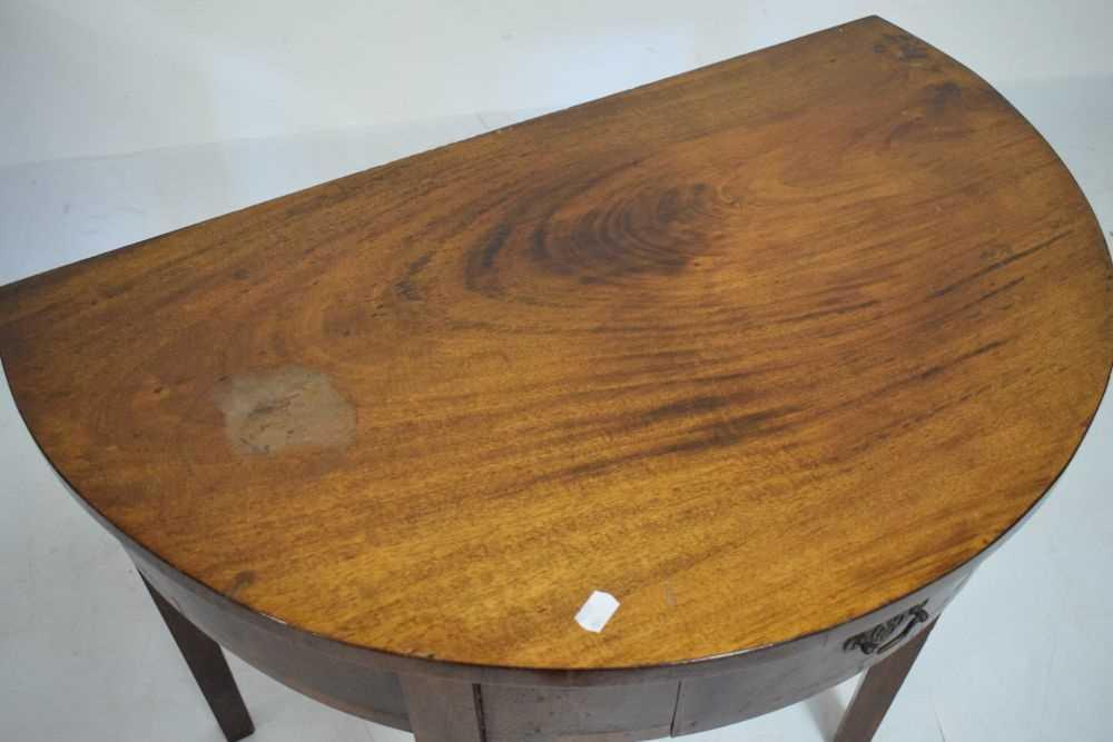 George III mahogany demi-lune side table - Image 2 of 6