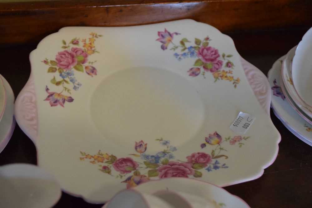 Shelley bone china floral decorated teawares - Image 5 of 5