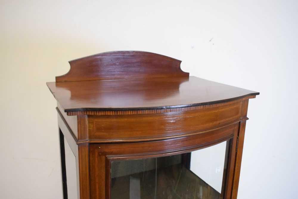 Edwardian mahogany display cabinet - Image 2 of 4