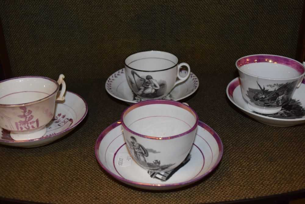 Quantity of late 18th Century / early 19th Century tea ware - Image 3 of 6