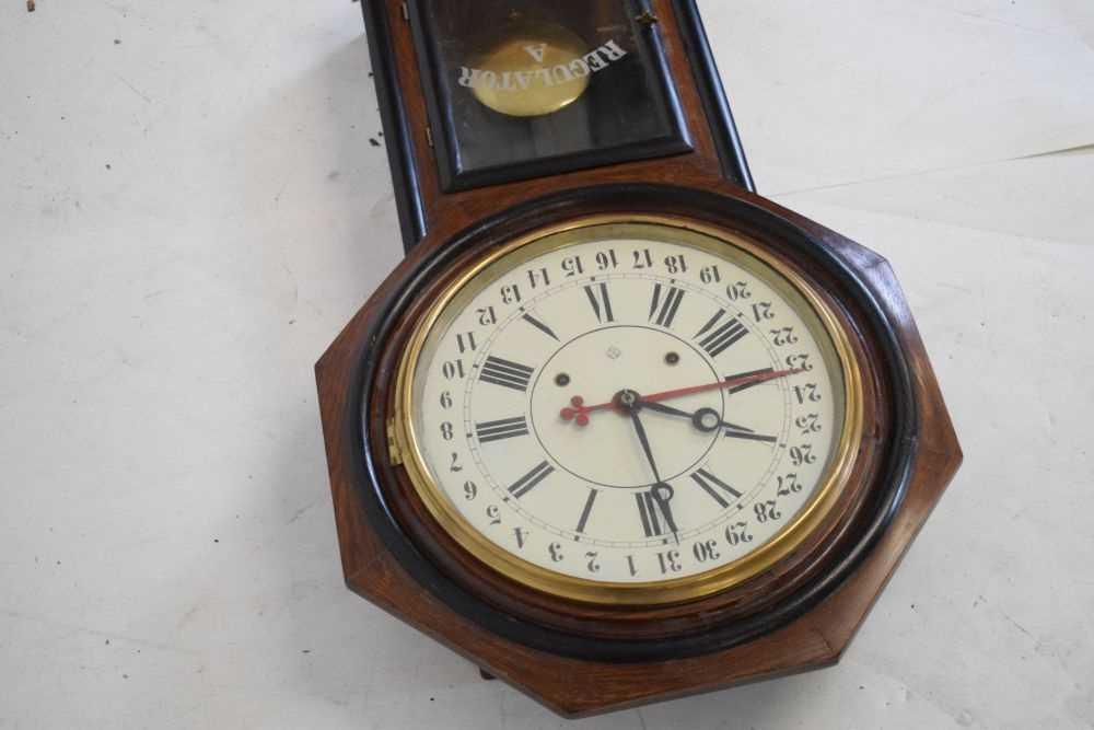 Ansonia - American regulator wall clock circa 1900 - Image 4 of 5