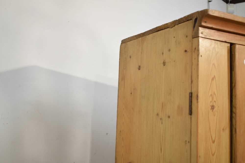 Pitch pine hall wardrobe - Image 6 of 6