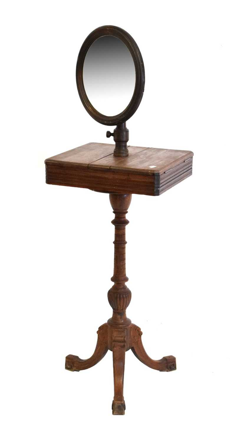 Late Victorian or Edwardian shaving / vanity stand