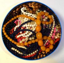 Quantity of costume jewellery beads and necklaces