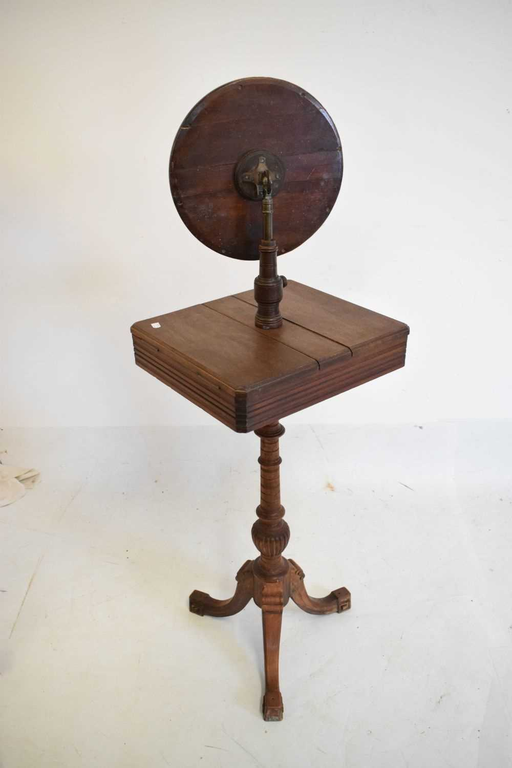 Late Victorian or Edwardian shaving / vanity stand - Image 3 of 3