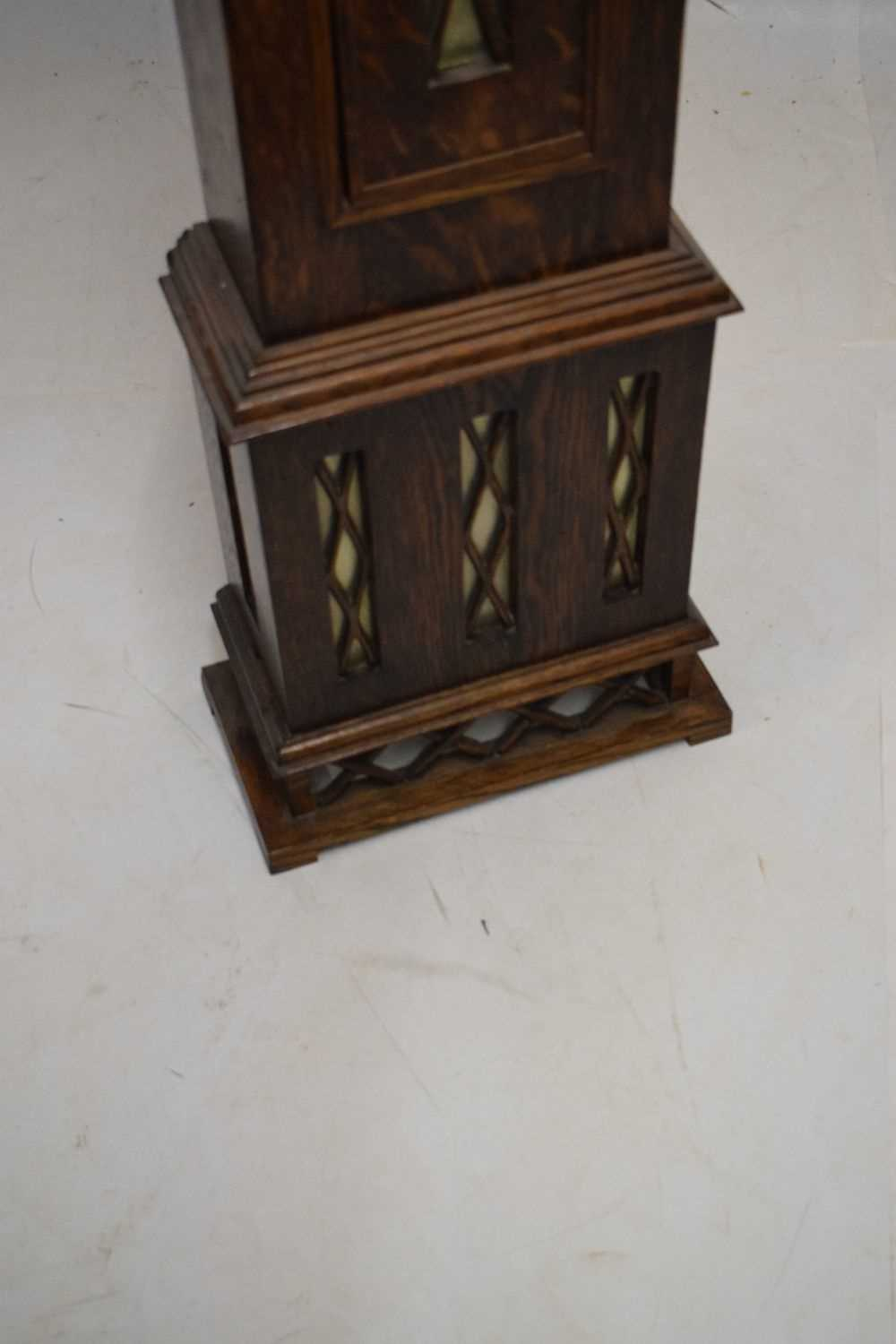 Early 20th Century oak-cased grandmother clock - Image 3 of 5