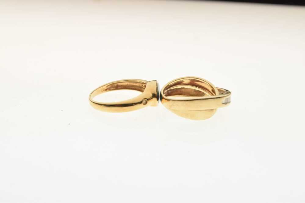 Dress ring set baguette cut diamonds, - Image 5 of 5