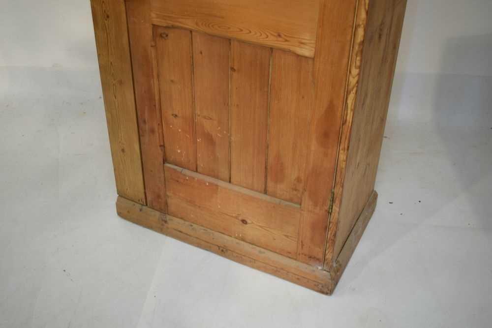 Pitch pine hall wardrobe - Image 4 of 6