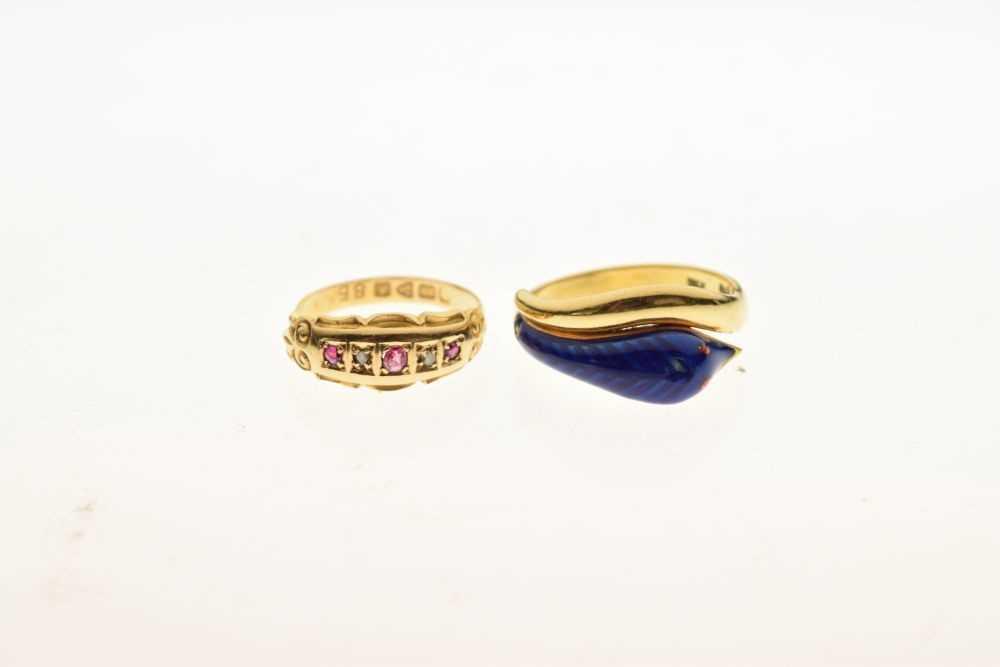 Edward VII 18ct gold ring - Image 2 of 5