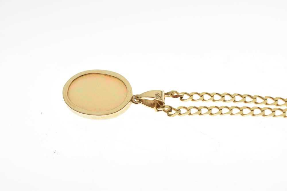 Yellow metal and opal pendant - Image 3 of 3