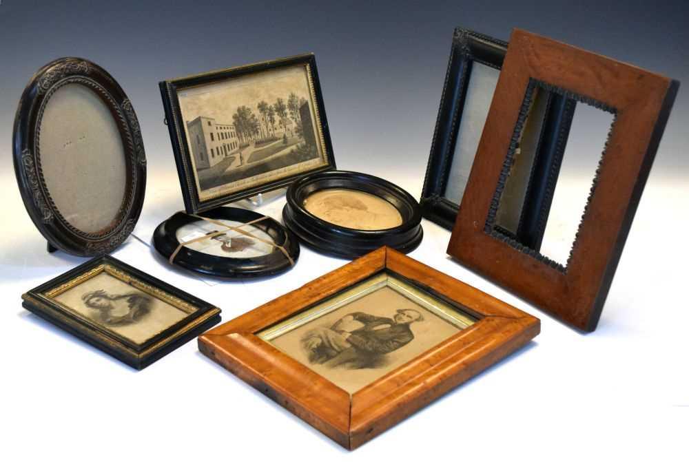 Bundle of assorted prints, frames etc