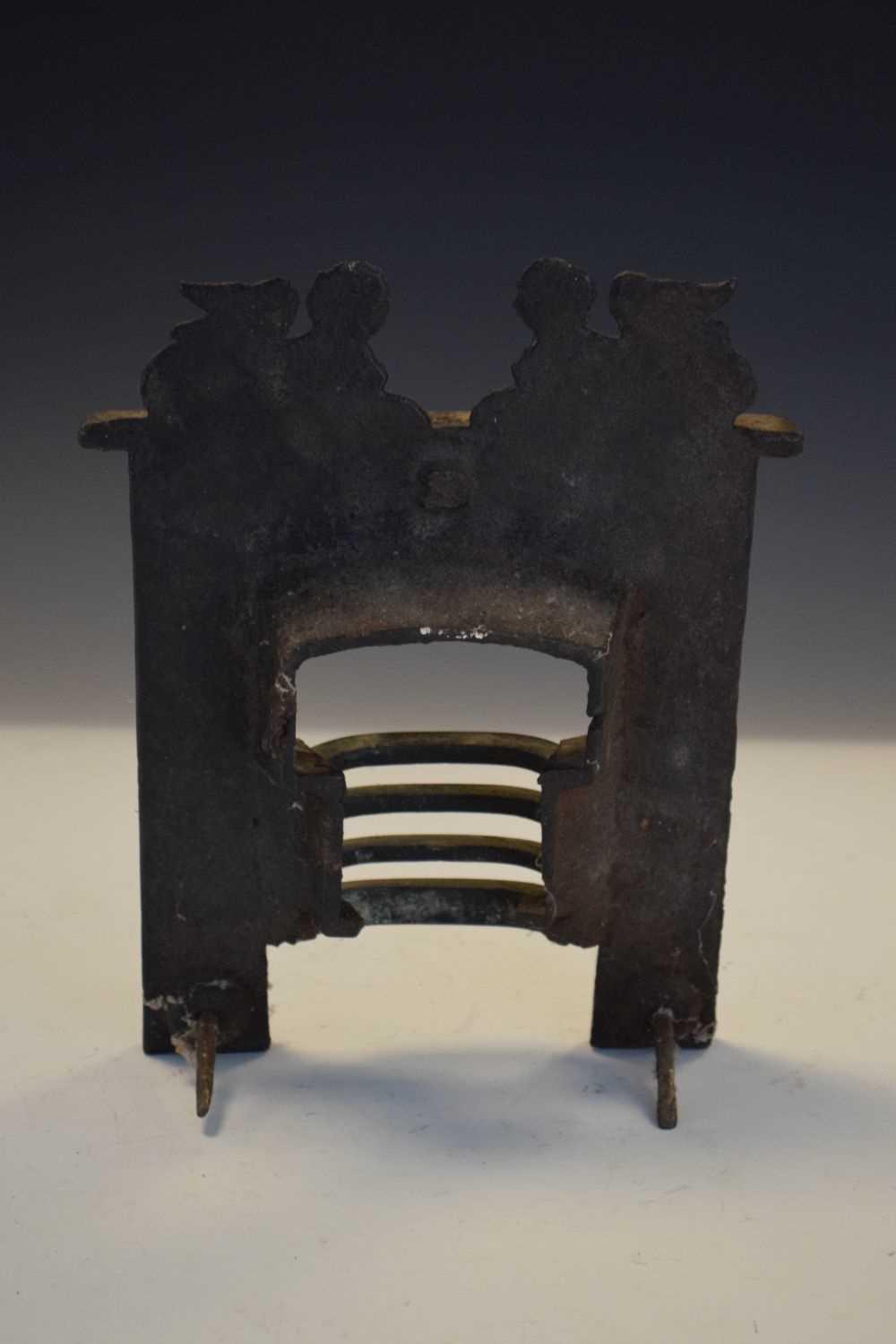 19th Century Salesman's sample miniature cast-iron fireplace - Image 4 of 4