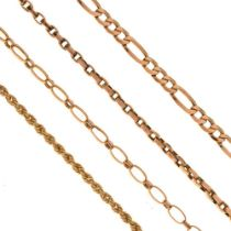 Two 9ct gold necklaces