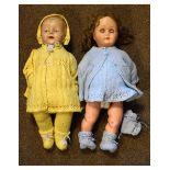 Two circa 1920's dolls
