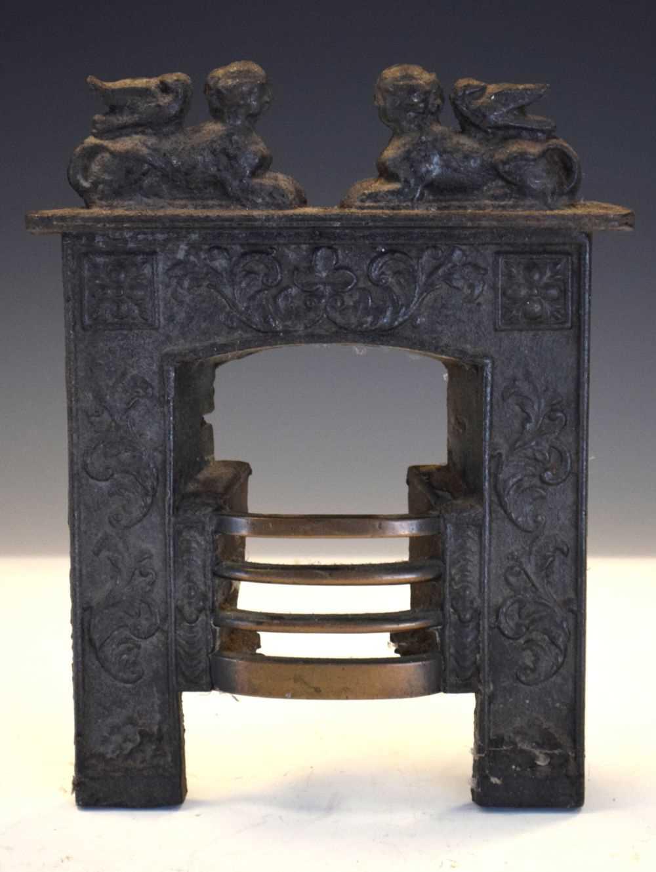 19th Century Salesman's sample miniature cast-iron fireplace