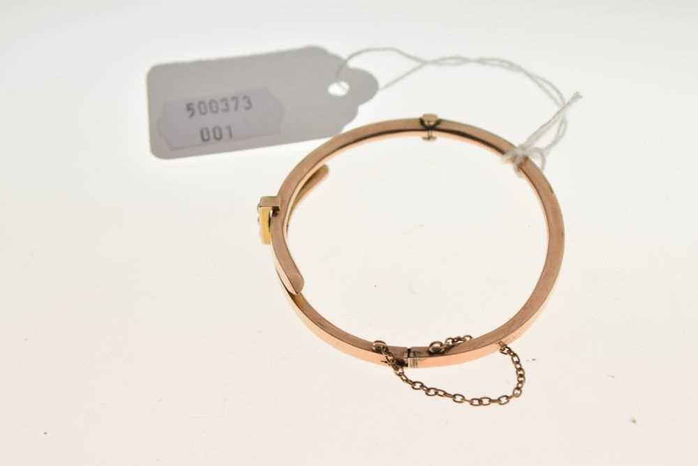 Late Victorian 9ct gold bangle - Image 4 of 4