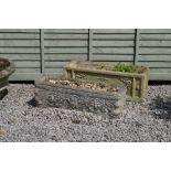 Greek style composite stone rectangular planter