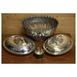 Assorted silver-plated wares