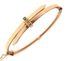 Late Victorian 9ct gold bangle